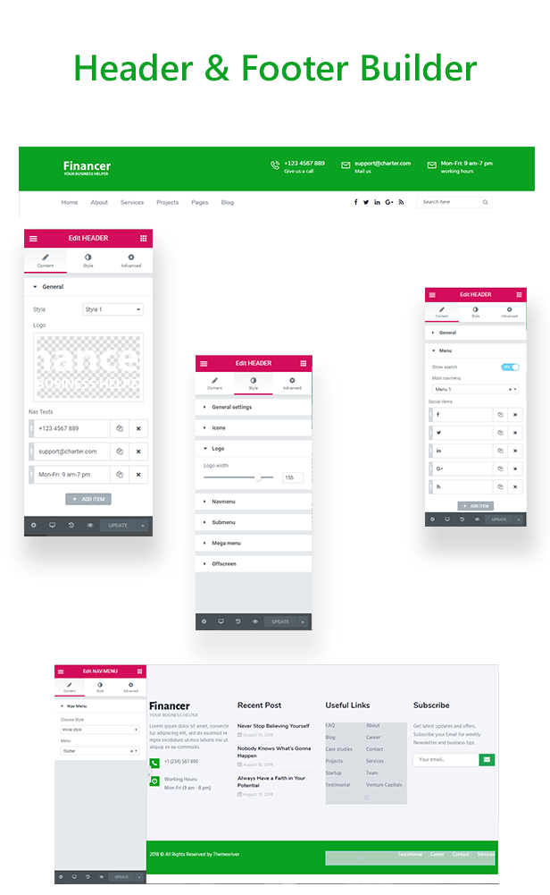 Financer - Consulting Finance & Insurance WordPress Theme - 1  Download Financer – Consulting Finance & Insurance WordPress Theme nulled header footer